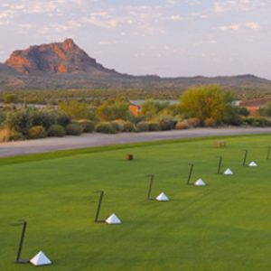 World-class premium practice balls unlimited use multiple target greens precise yardages four putting greens