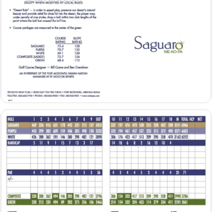 saguaro golf course scorecard
