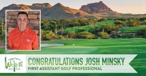 josh minksy we-ko-pa golf club first assistant professional