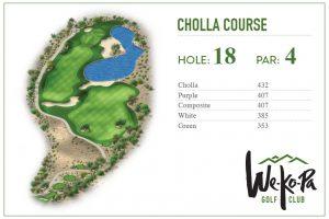 how to play We-Ko-Pa Golf Club Cholla Hole 18