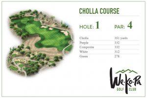 how to play We-Ko-Pa Golf Club Cholla Hole 1