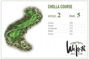 how to play We-Ko-Pa Golf Club Cholla Hole 2