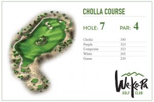 how to play We-Ko-Pa Golf Club Cholla Hole 7