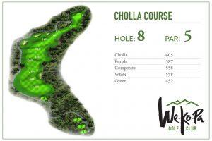 how to play We-Ko-Pa Golf Club Cholla Hole 8