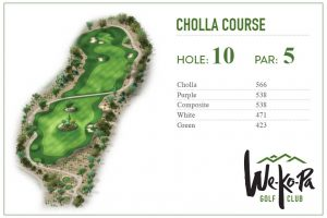 how to play We-Ko-Pa Golf Club Cholla Hole 10