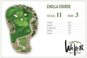 how to play We-Ko-Pa Golf Club Cholla Hole 11