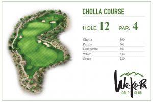 how to play We-Ko-Pa Golf Club Cholla Hole 12