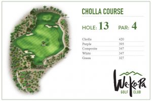 how to play We-Ko-Pa Golf Club Cholla Hole 13