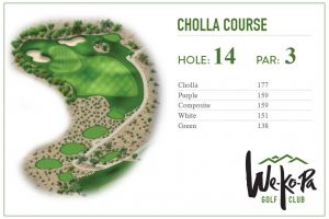 how to play We-Ko-Pa Golf Club Cholla Hole 14