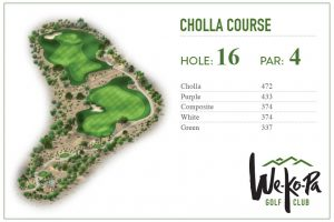 how to play We-Ko-Pa Golf Club Cholla Hole 16