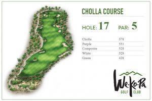 how to play We-Ko-Pa Golf Club Cholla Hole 17
