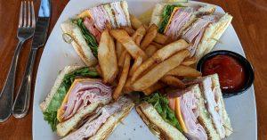 club sandwich at wekopa grille
