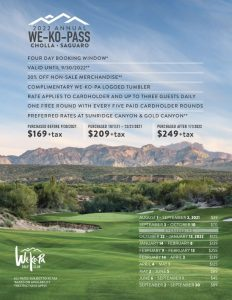 we-ko-pass flyer showing the best reasons to book at we-ko-pa
